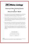 Cleaning of Rhino Flooring Systems - NZ