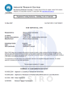 CSIRO Rhino Linings Test Report