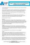 Maintenance & Inspection Programme