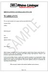 Rhino Linings Waterproofing Warranty
